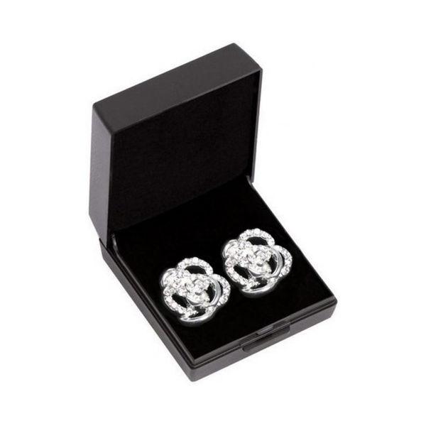 SD rose øreringe, sølv