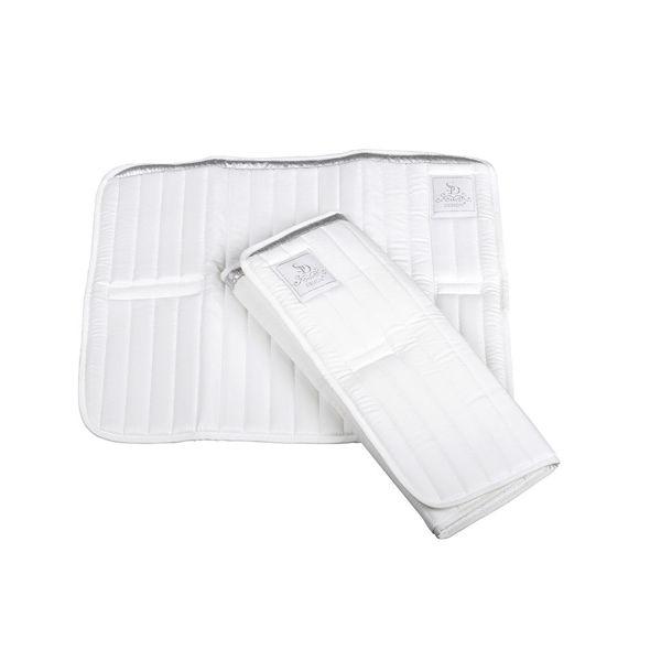 SD Bandage underlag med sølv bånd.