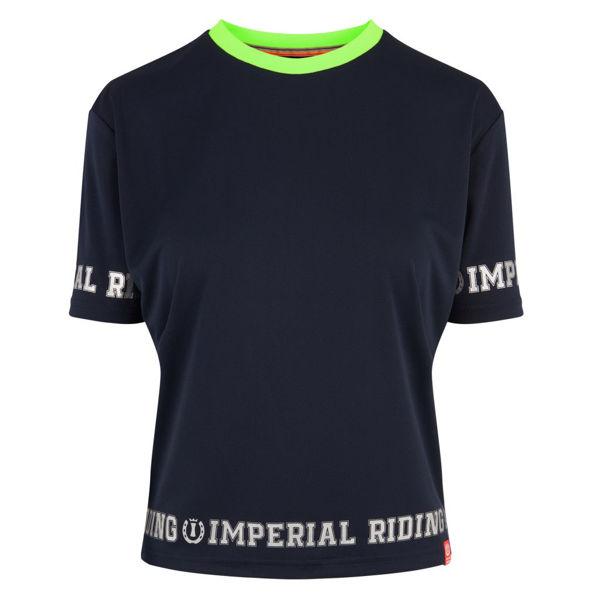 IR T-shirt  m kontrast krave